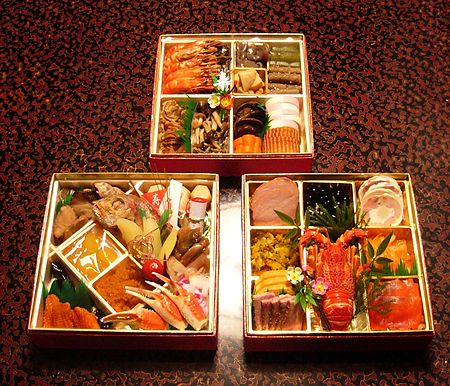 Japanese New Year Celebration With Osechi-ryori